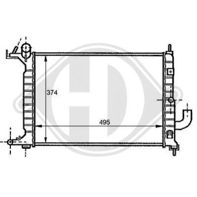 Radiateur, refroidissement du moteur - HDK-Germany - 77HDK8125209