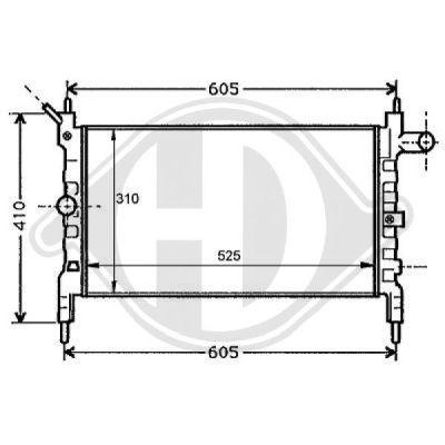 Radiateur, refroidissement du moteur - Diederichs Germany - 8125210