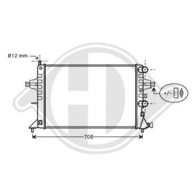 Radiateur, refroidissement du moteur - Diederichs Germany - 8125217