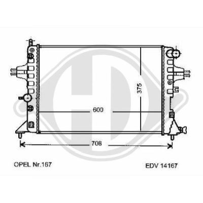 Radiateur, refroidissement du moteur - HDK-Germany - 77HDK8125218
