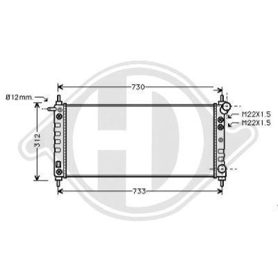 Radiateur, refroidissement du moteur - Diederichs Germany - 8125220