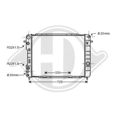 Radiateur, refroidissement du moteur - HDK-Germany - 77HDK8125221