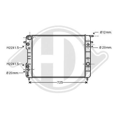 Radiateur, refroidissement du moteur - Diederichs Germany - 8125223