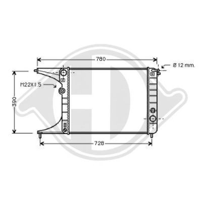Radiateur, refroidissement du moteur - HDK-Germany - 77HDK8125225