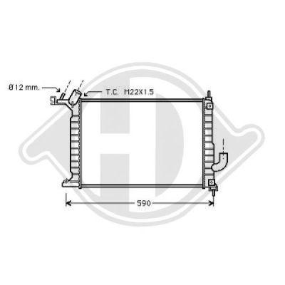 Radiateur, refroidissement du moteur - Diederichs Germany - 8125227