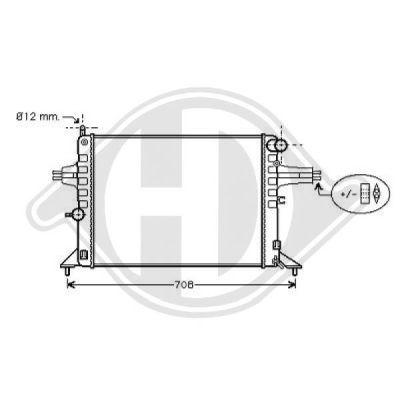 Radiateur, refroidissement du moteur - Diederichs Germany - 8125228