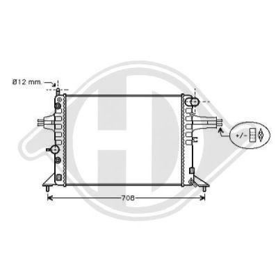 Radiateur, refroidissement du moteur - Diederichs Germany - 8125229