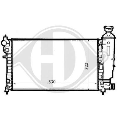 Radiateur, refroidissement du moteur - Diederichs Germany - 8126100