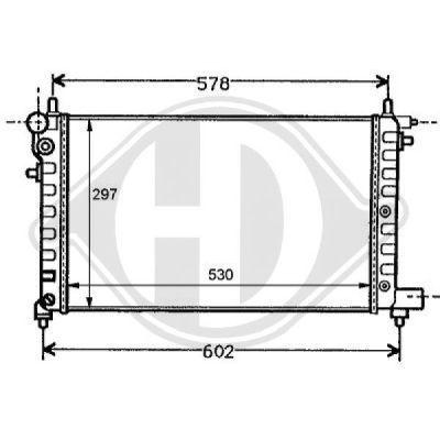 Radiateur, refroidissement du moteur - HDK-Germany - 77HDK8126111