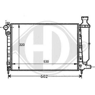 Radiateur, refroidissement du moteur - Diederichs Germany - 8126113
