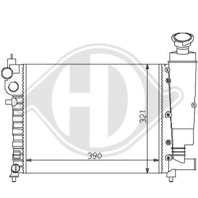 Radiateur, refroidissement du moteur - HDK-Germany - 77HDK8126114