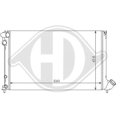 Radiateur, refroidissement du moteur - HDK-Germany - 77HDK8126131