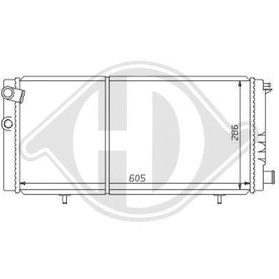 Radiateur, refroidissement du moteur - Diederichs Germany - 8126144