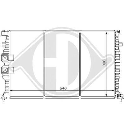 Radiateur, refroidissement du moteur - Diederichs Germany - 8126156