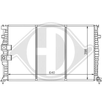 Radiateur, refroidissement du moteur - Diederichs Germany - 8126157