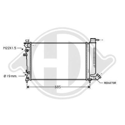 Radiateur, refroidissement du moteur - Diederichs Germany - 8126162