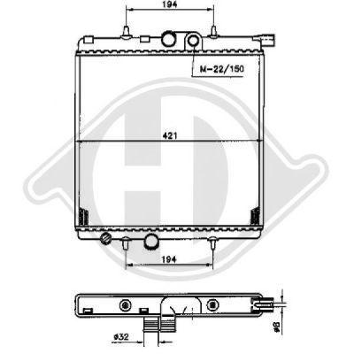 Radiateur, refroidissement du moteur - Diederichs Germany - 8126164