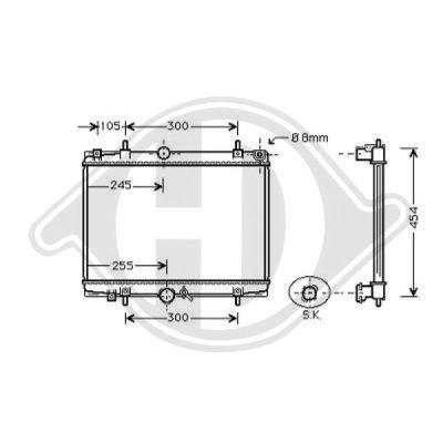 Radiateur, refroidissement du moteur - HDK-Germany - 77HDK8126169
