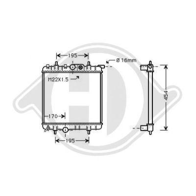 Radiateur, refroidissement du moteur - Diederichs Germany - 8126171