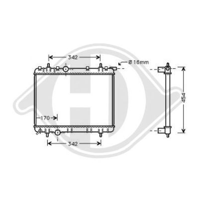Radiateur, refroidissement du moteur - HDK-Germany - 77HDK8126173