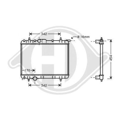 Radiateur, refroidissement du moteur - Diederichs Germany - 8126175