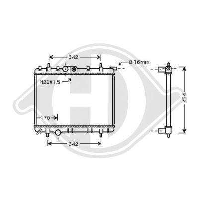Radiateur, refroidissement du moteur - Diederichs Germany - 8126176