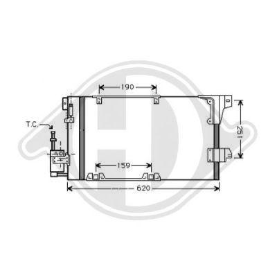 Condenseur, climatisation - Diederichs Germany - 8126218
