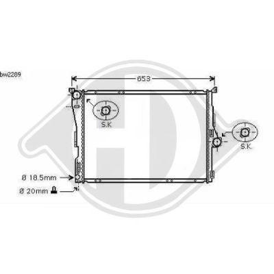 Radiateur, refroidissement du moteur - Diederichs Germany - 8127502