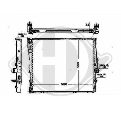 Radiateur, refroidissement du moteur - Diederichs Germany - 8127504