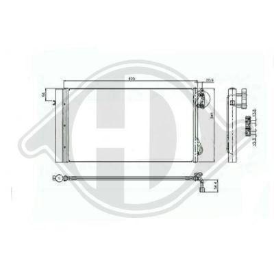 Radiateur, refroidissement du moteur - Diederichs Germany - 8128004