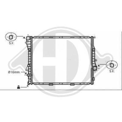 Radiateur, refroidissement du moteur - HDK-Germany - 77HDK8129010