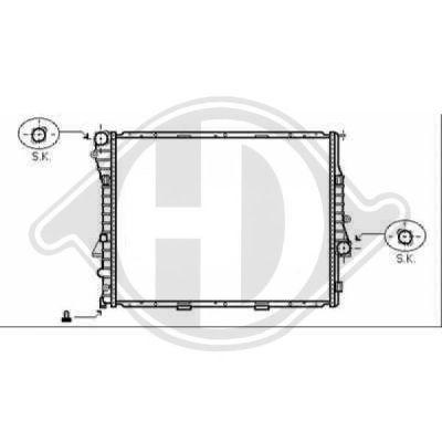 Radiateur, refroidissement du moteur - Diederichs Germany - 8129011