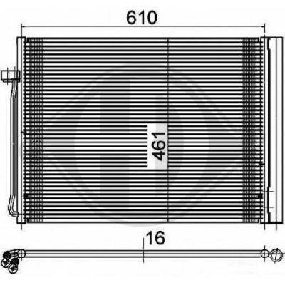 Condenseur, climatisation - Diederichs Germany - 8129100