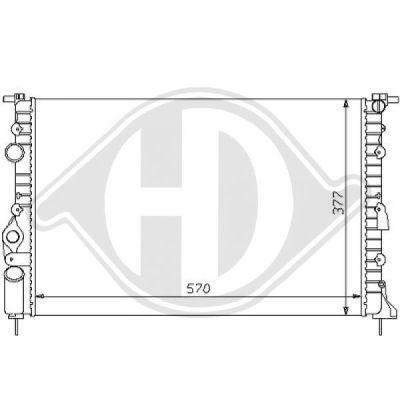 Radiateur, refroidissement du moteur - Diederichs Germany - 8129106