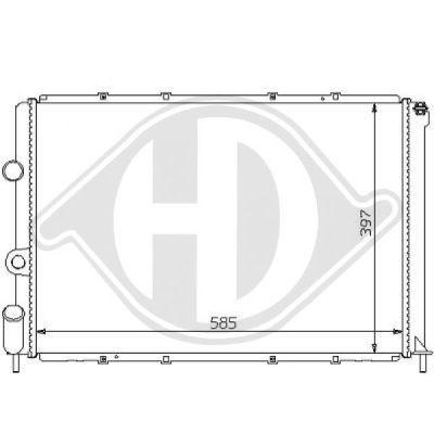 Radiateur, refroidissement du moteur - HDK-Germany - 77HDK8129107