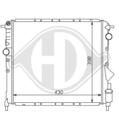 Radiateur, refroidissement du moteur - HDK-Germany - 77HDK8129121