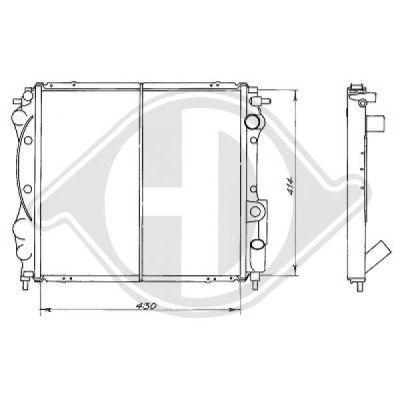 Radiateur, refroidissement du moteur - HDK-Germany - 77HDK8129147