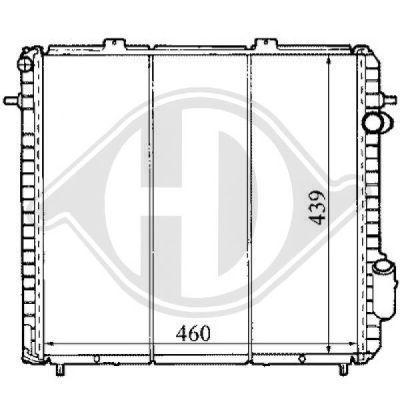 Radiateur, refroidissement du moteur - Diederichs Germany - 8129161
