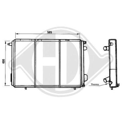 Radiateur, refroidissement du moteur - Diederichs Germany - 8129162