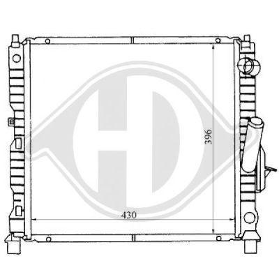 Radiateur, refroidissement du moteur - HDK-Germany - 77HDK8129165
