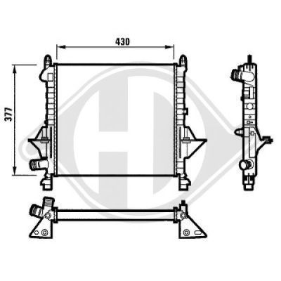 Radiateur, refroidissement du moteur - Diederichs Germany - 8129166