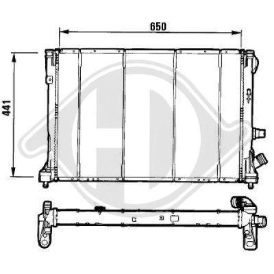 Radiateur, refroidissement du moteur - Diederichs Germany - 8129167