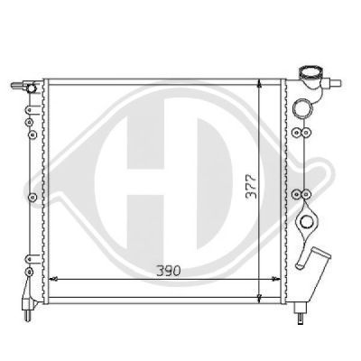 Radiateur, refroidissement du moteur - HDK-Germany - 77HDK8129175