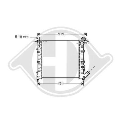 Radiateur, refroidissement du moteur - Diederichs Germany - 8129176