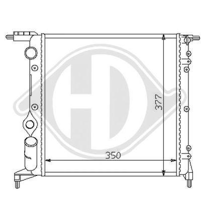 Radiateur, refroidissement du moteur - HDK-Germany - 77HDK8129177