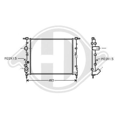 Radiateur, refroidissement du moteur - HDK-Germany - 77HDK8129193