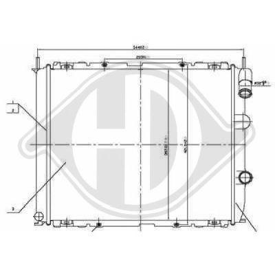 Radiateur, refroidissement du moteur - HDK-Germany - 77HDK8129194