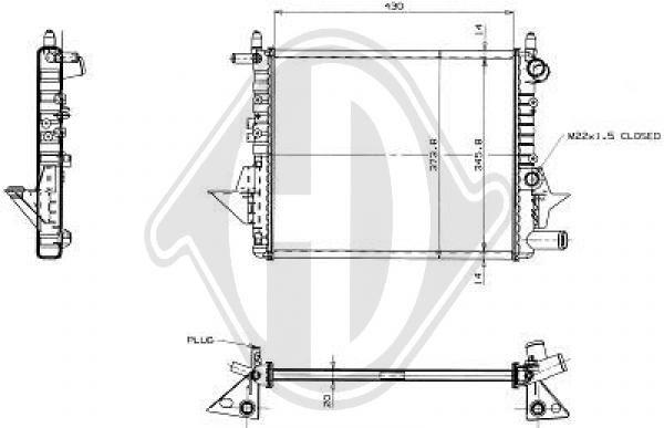 Radiateur, refroidissement du moteur - Diederichs Germany - 8129196
