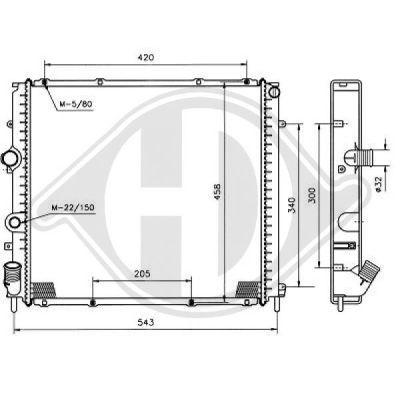 Radiateur, refroidissement du moteur - Diederichs Germany - 8129197