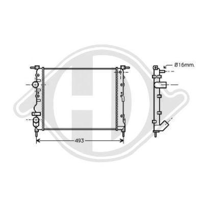 Radiateur, refroidissement du moteur - Diederichs Germany - 8129202